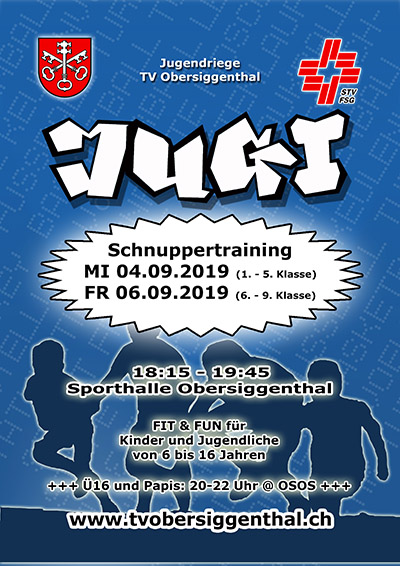 Schnuppertraining 2019 Flyer